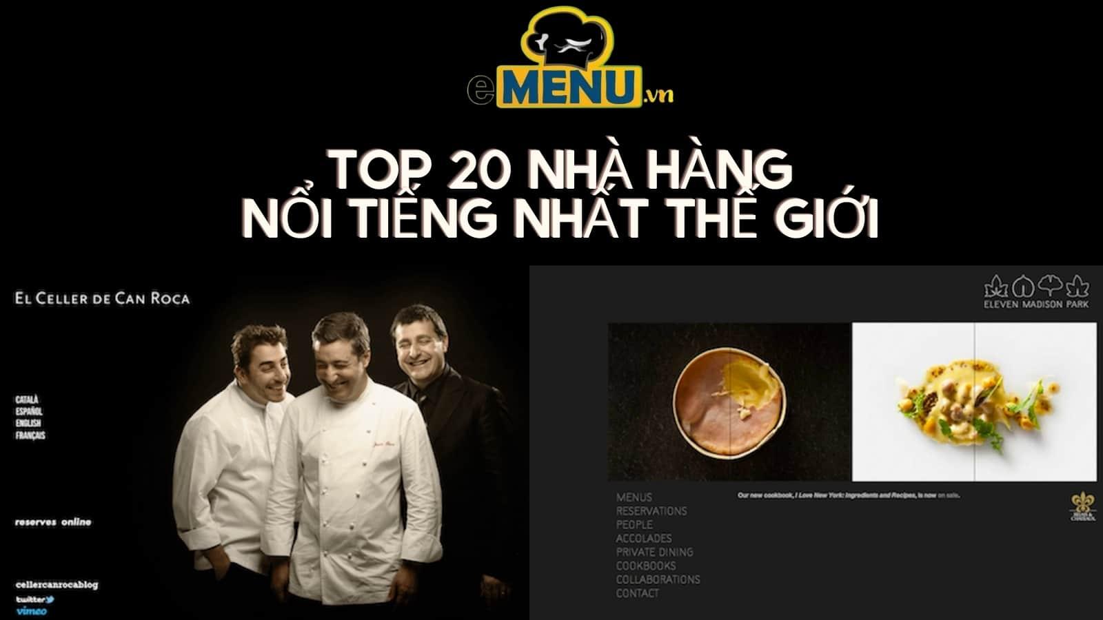 top 20 nha hang noi tieng nhat the gioi